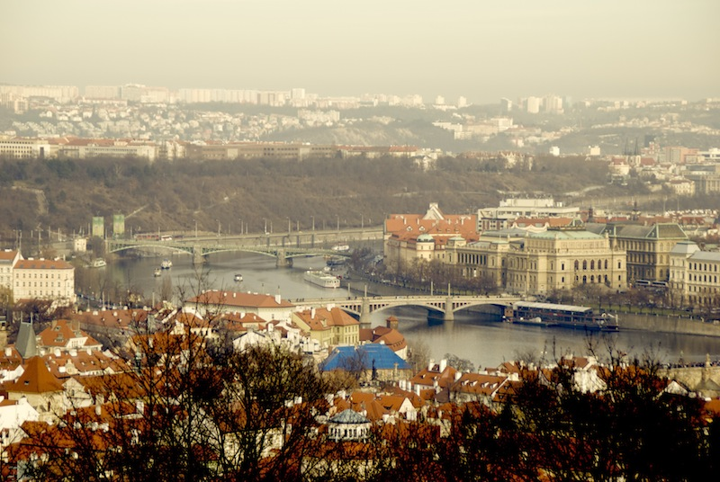 Blick vom Petřín (Laurenziberg) auf Prag