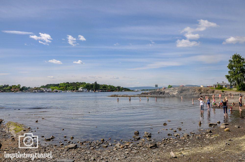 Oslo Sehenswuerdigkeiten Hovedøya Strand