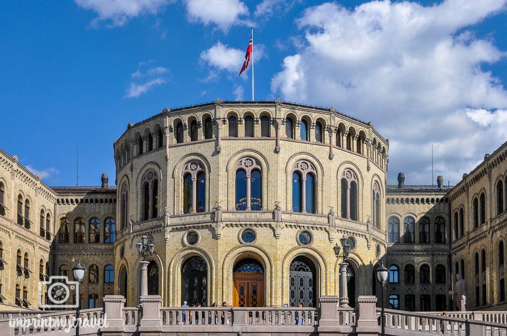 Sehenswürdigkeiten Oslo Parlament