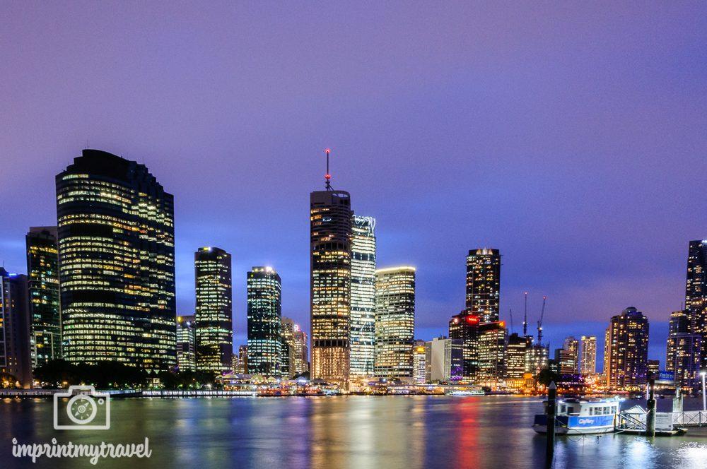 Australien Brisbane zur blauen Stunde