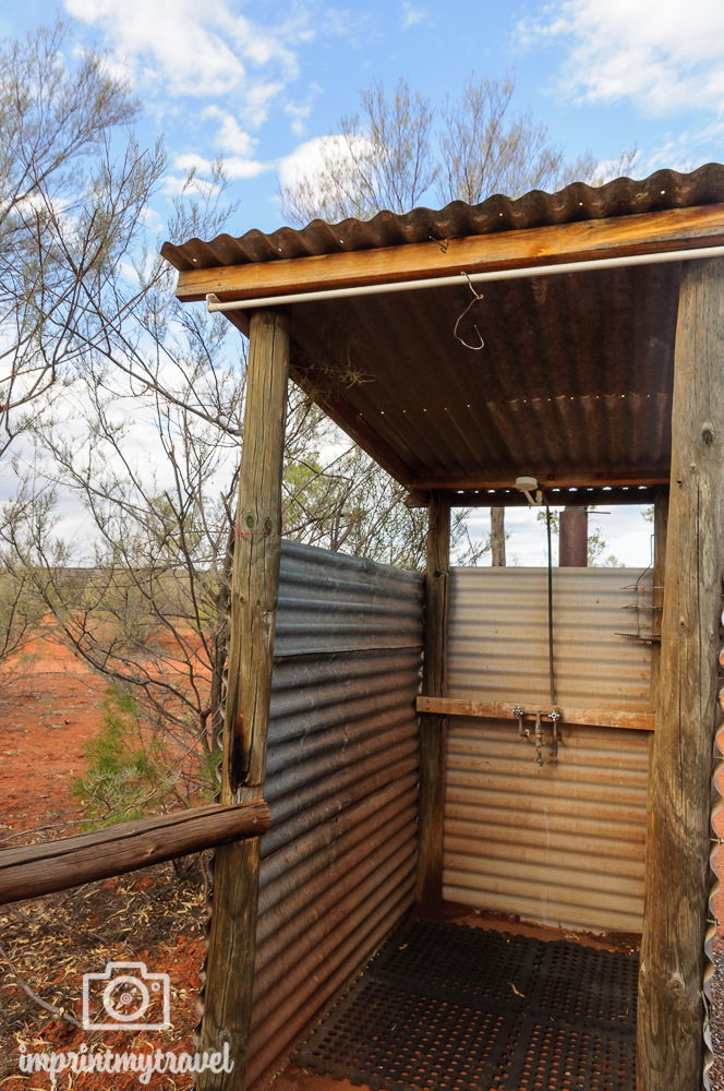 Outback Australien: Busch-Dusche