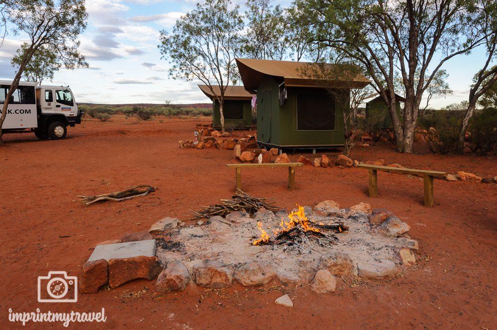 Australien Outback: Zeltcamp