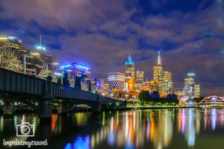 Melbourne Nachtaufnahme Yarra River