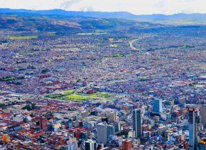 Ausblick über Bogotá