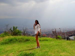 Aussicht über Medellín von der Comunidad 13