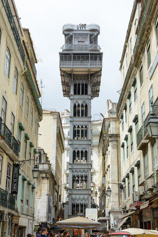Städtereise Lissabon: Elevador de Santa Justa