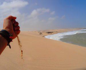 auf der riesigen Sanddüne