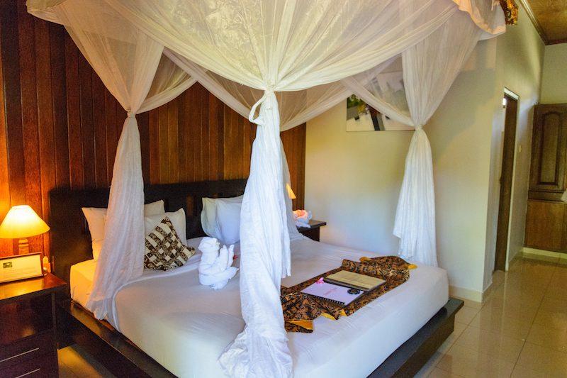 Bali-Rundreise: Moskitonetz