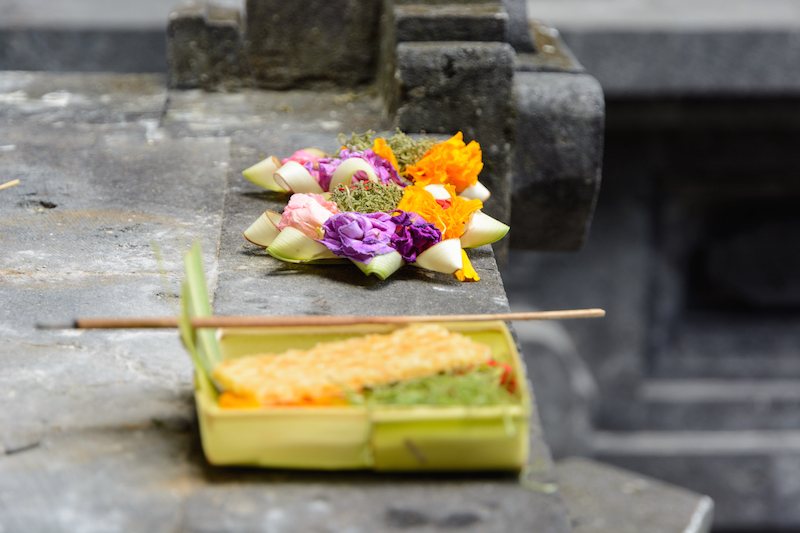 Bali-Rundreise: Opferschalen
