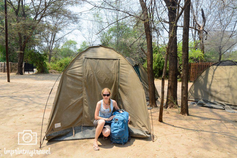Afrika- Rundreise: das Zeltcamp