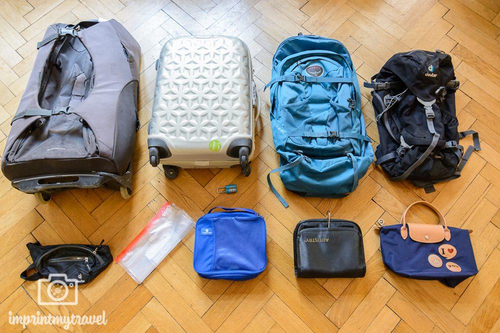 Reiseliste Gepäck