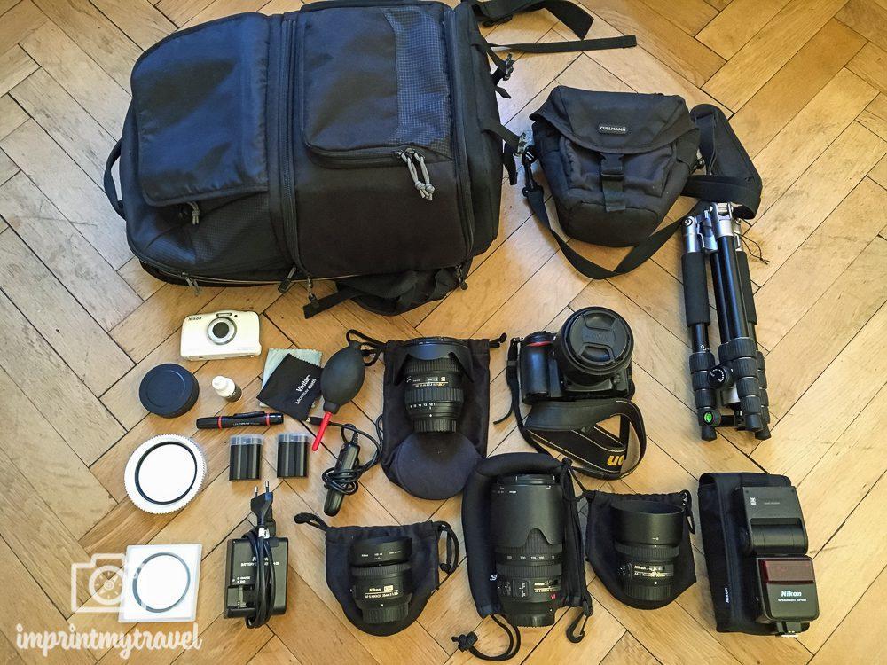 Reiseliste Fotoausrüstung