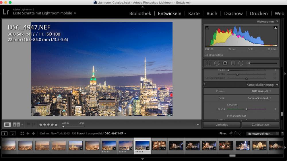 Nachtaufnahmen-Tutorial: Bildbearbeitung