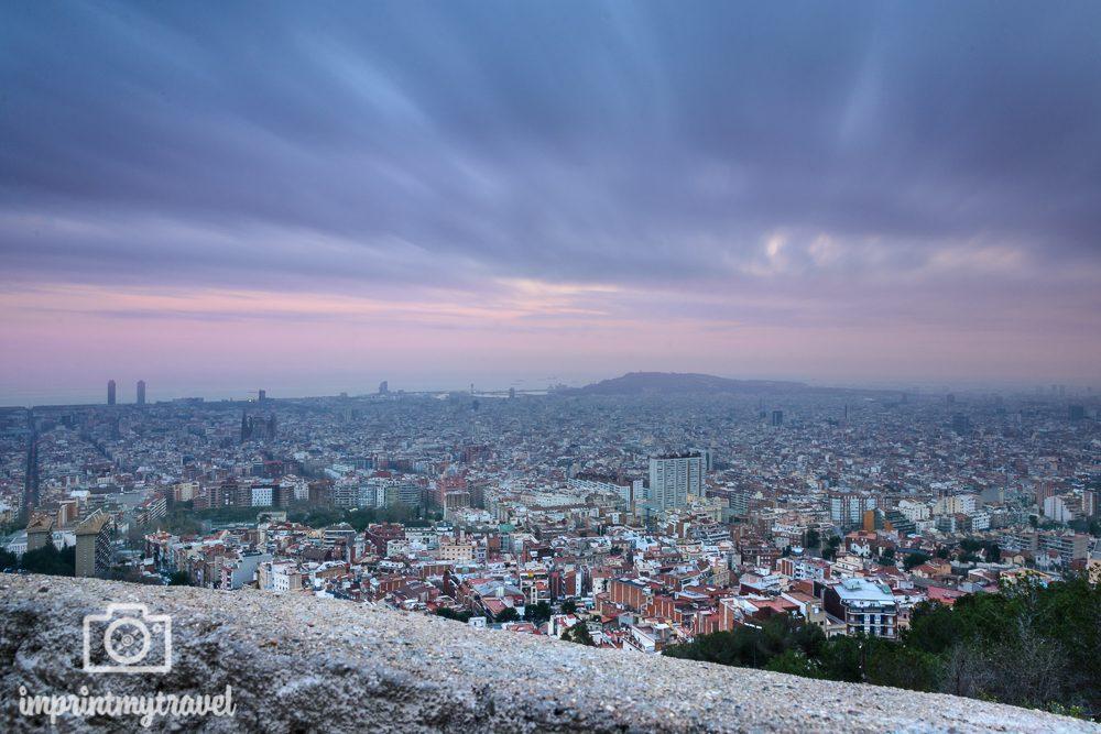 Fotografieren mit Graufilter Barcelona