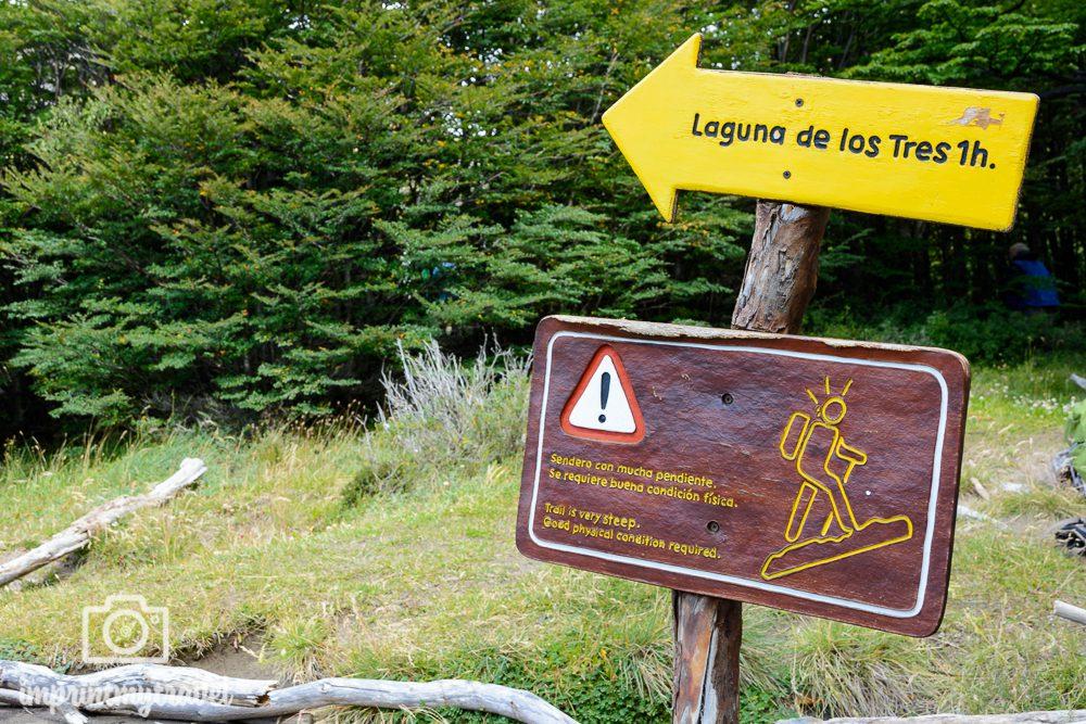 Aufstieg Laguna de los Tres