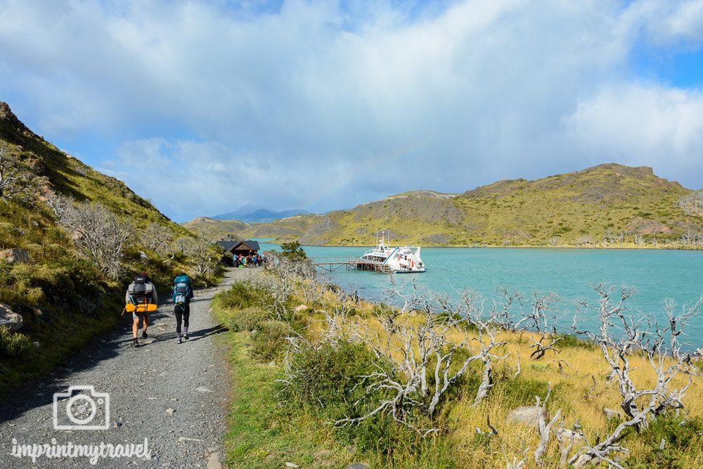 "Das ""W-Trekking"" im Torres del Paine Nationalpark, Katamaran"