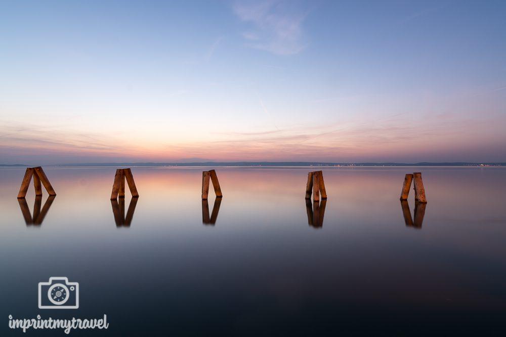 Fotografieren mit Graufilter: glattes Wasser