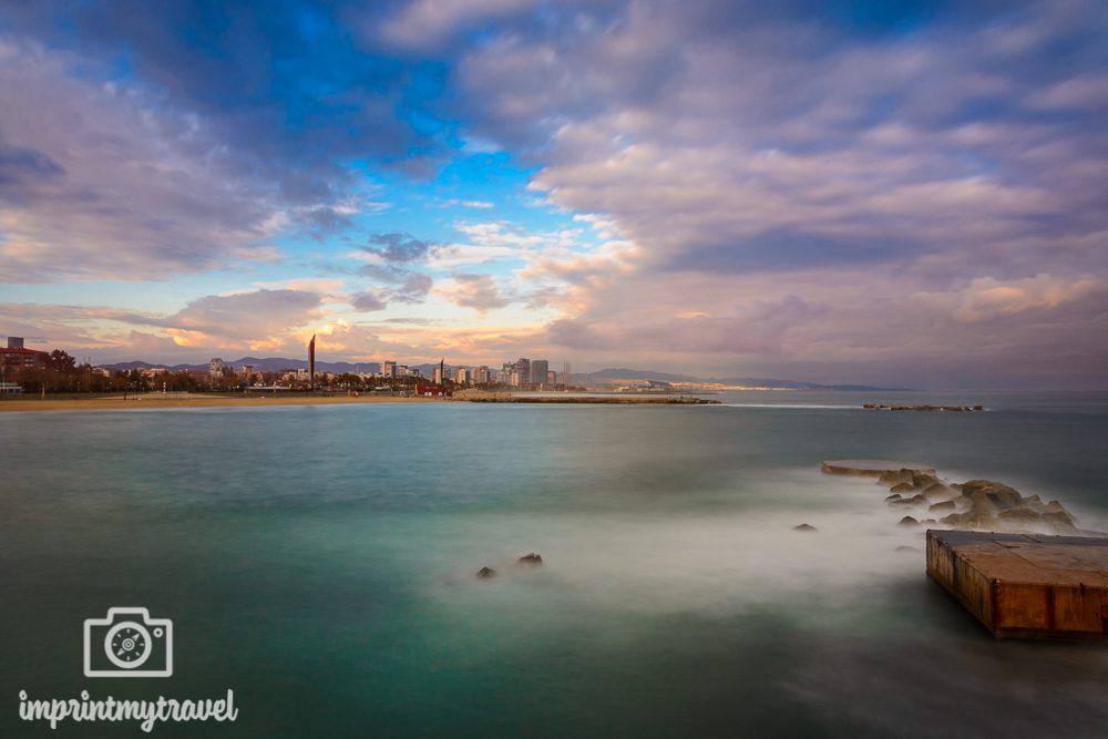 Fotografieren mit Graufilter Barceloneta