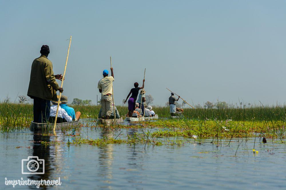Okavango Delta Safari: Fahrt im Mokoro
