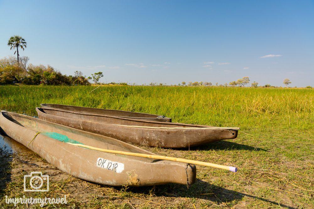 Okavango Delta Safari: Mokoro Anlegestelle