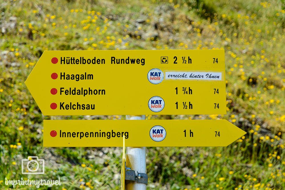 KAT Walk Kitzbüheler Alpen Tirol Beschilderung