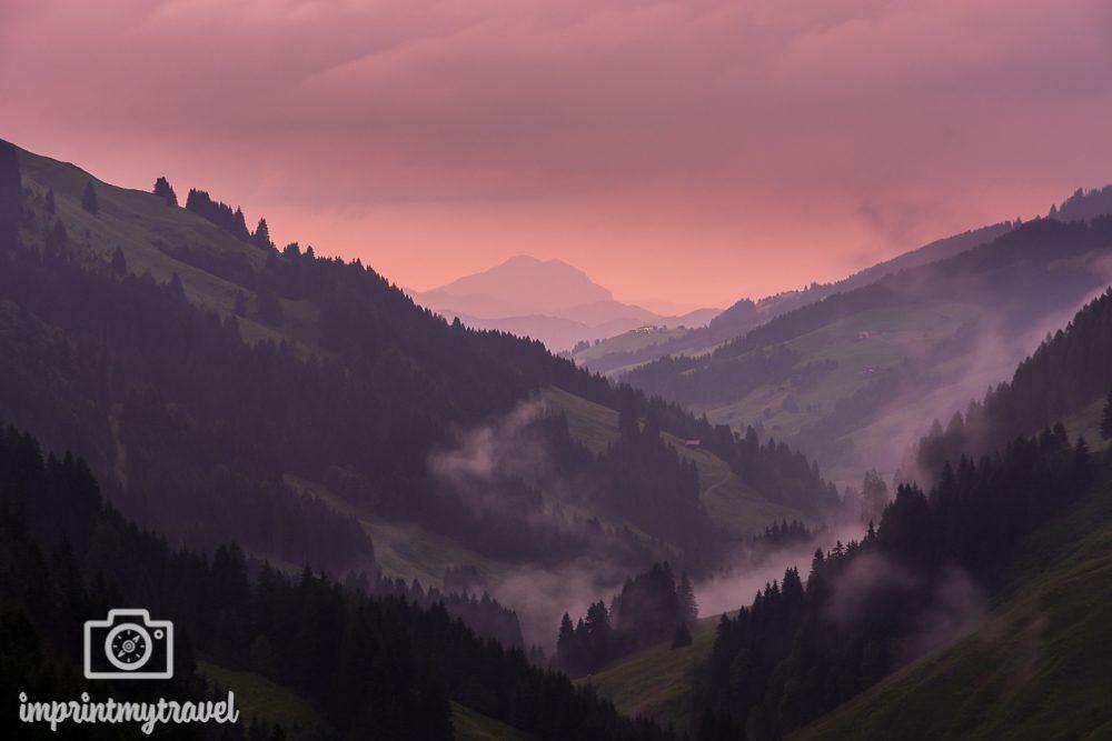Wandern in den Kitzbüheler Alpen Abendstimmung