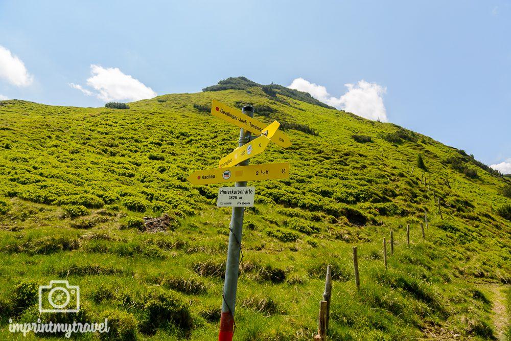 Wandern in den Kitzbüheler Alpen Hinterkarscharte