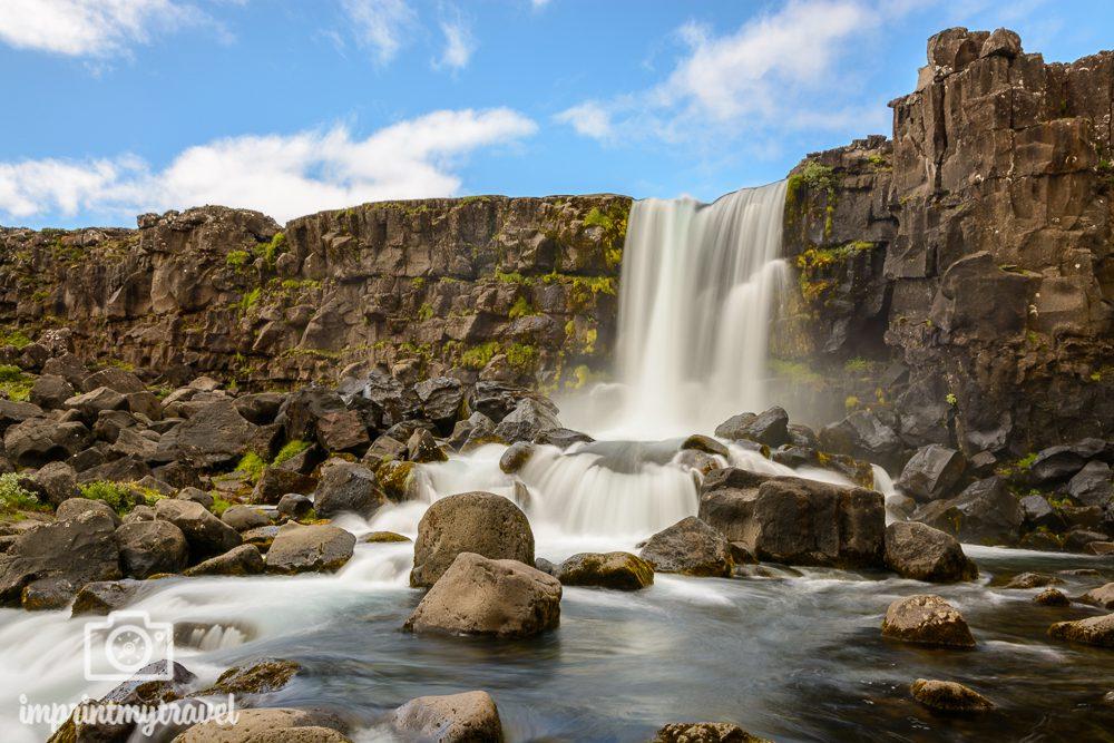 Island Bilder Thingvellir Nationalpark Öxarafoss