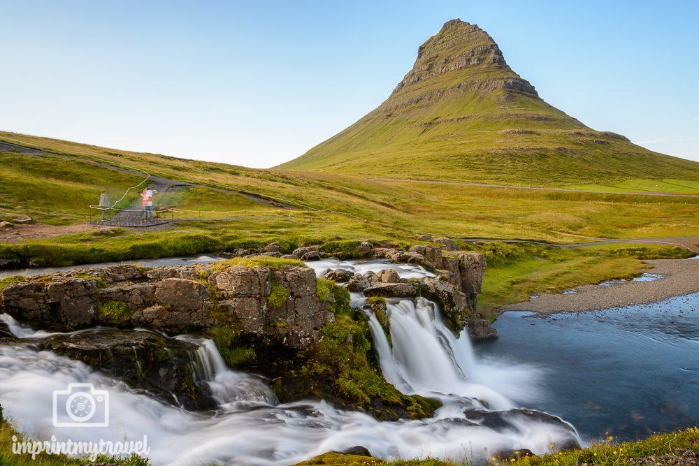 Island Bilder Snaefellsnes Halbinsel Kirkjufell Wasserfall