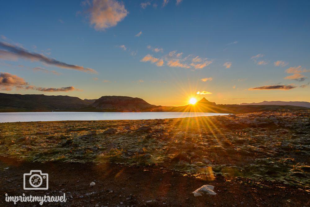 Island Bilder Snaefellsnes Halbinsel Sonnenuntergang