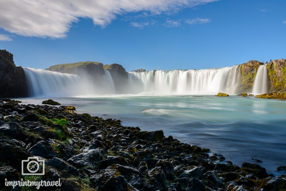 Island Bilder Wasserfall Godafoss