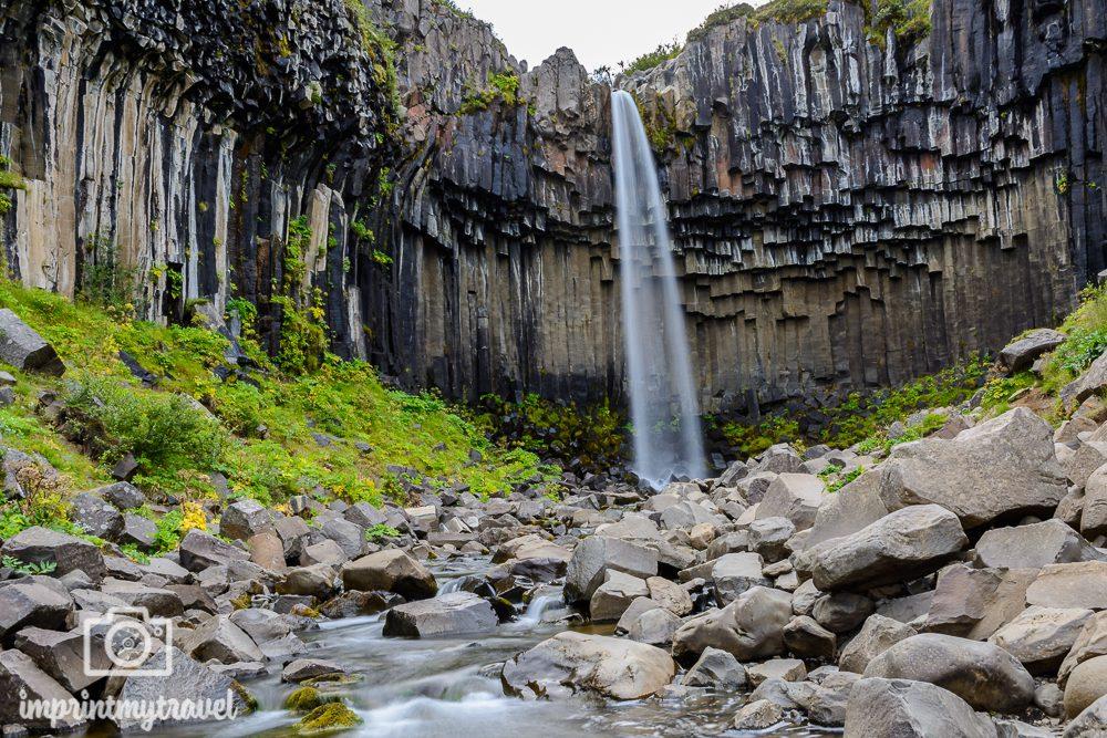 Island Bilder Svartifoss Wasserfall