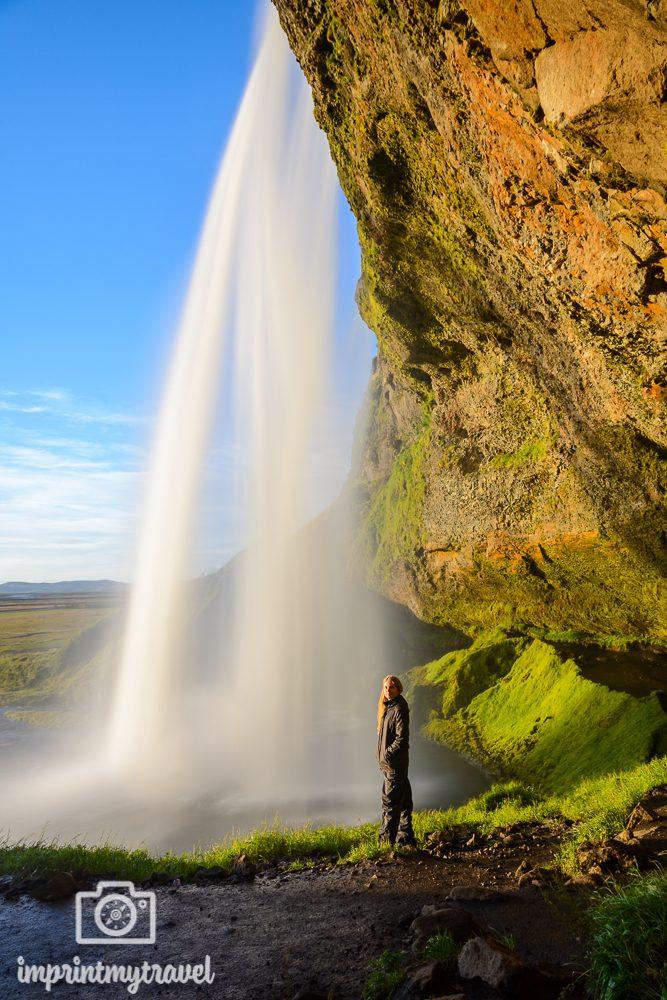 Island Bilder Seljalandsfoss Wasserfalls