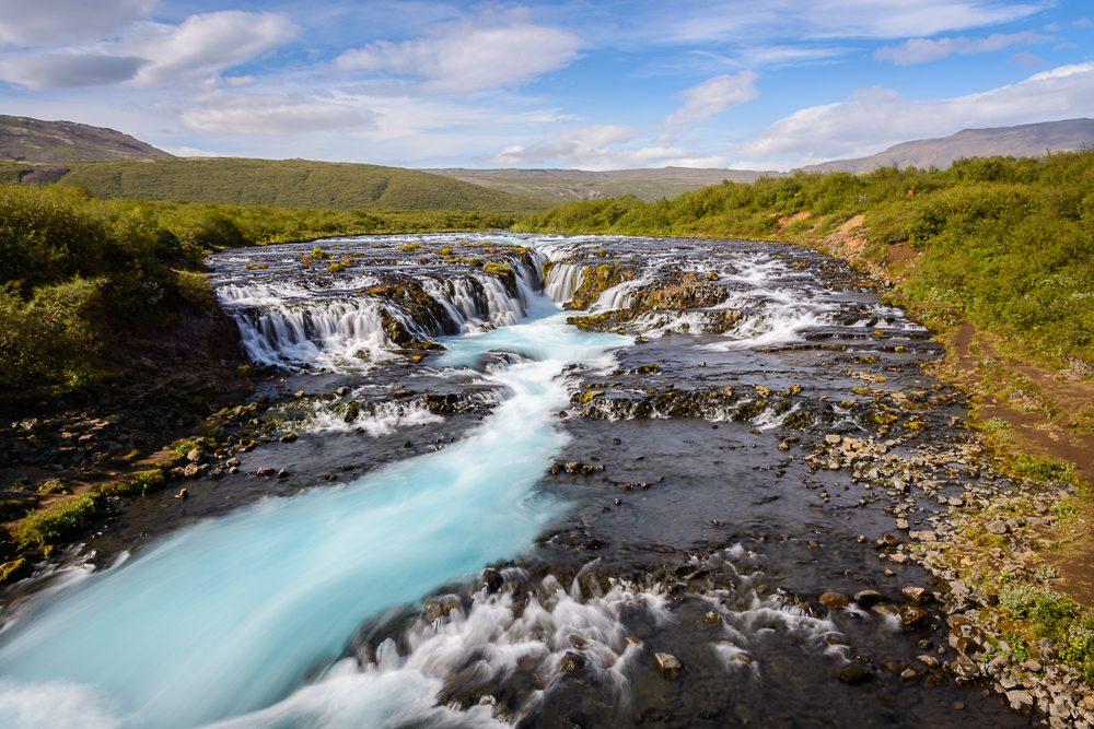 Island Bilder Bruarfoss Wasserfall