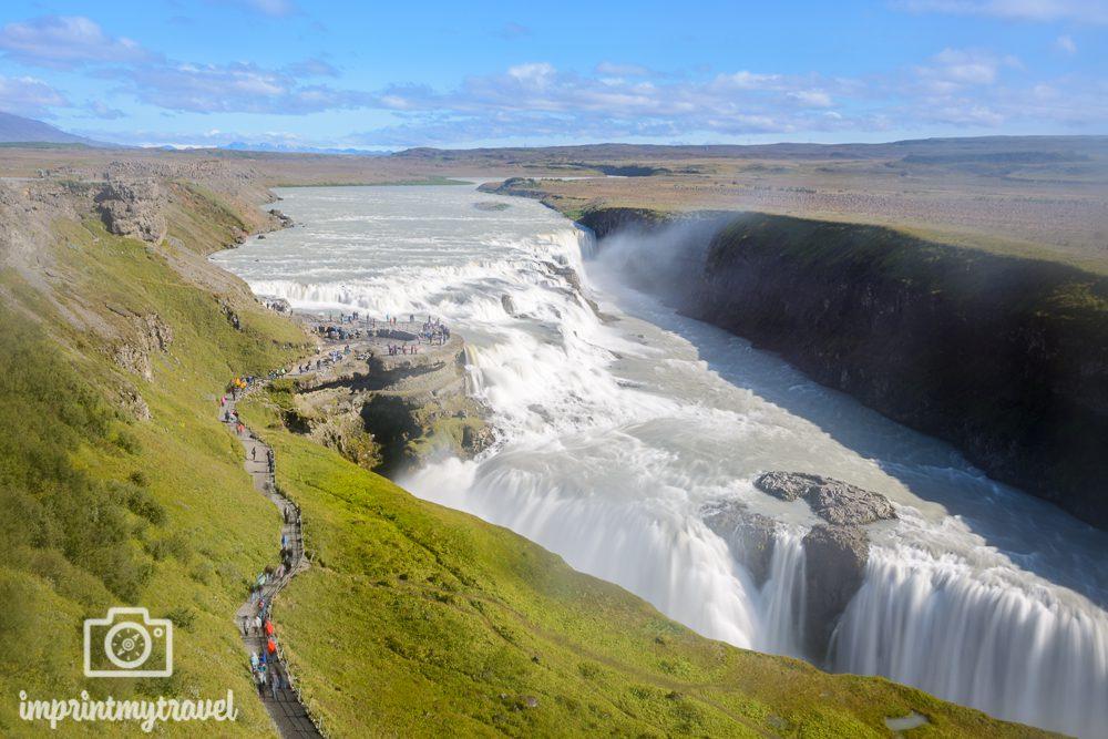 Island Bilder Gullfoss Wasserfall