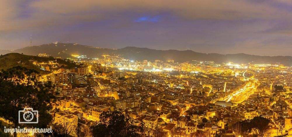 Panoramabilder in Lightroom erstellen Barcelona Nachtaufnahme