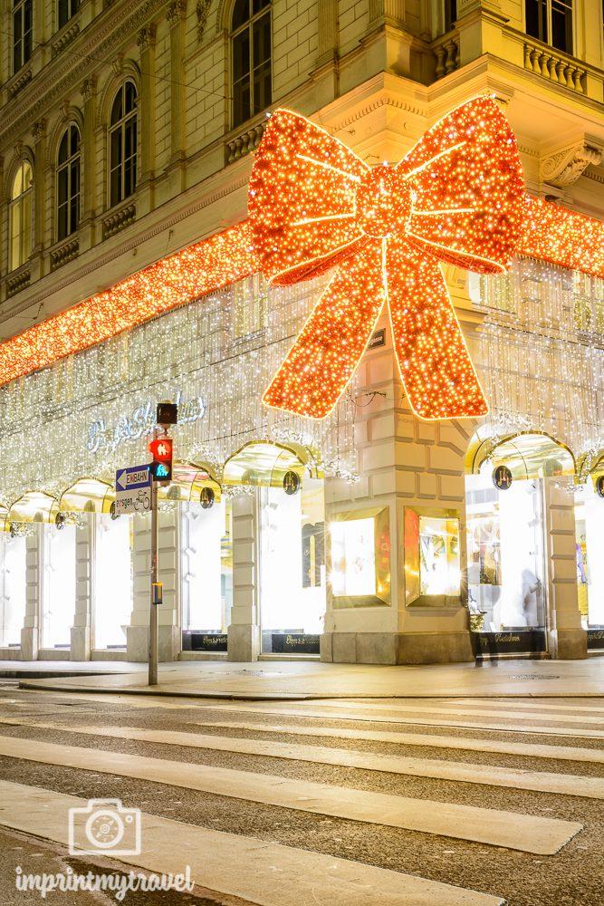 Weihnachten in Wien Beleuchtung Masche