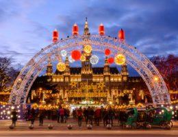 Wien zu Weihnachten Rathausplatz Weihnachtsmarkt