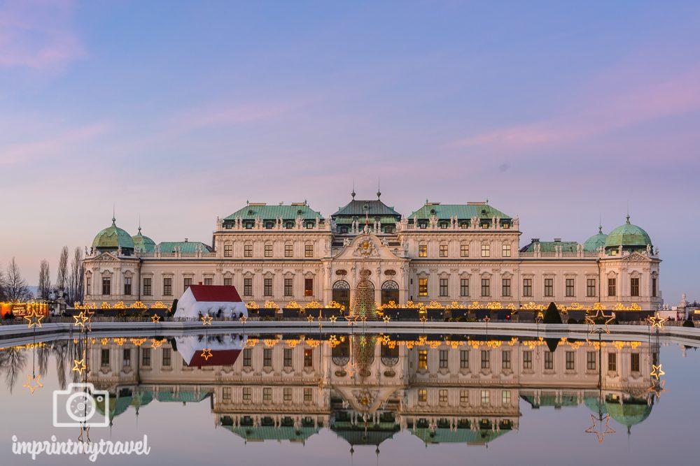 Weihnachten in Wien Schloss Belvedere
