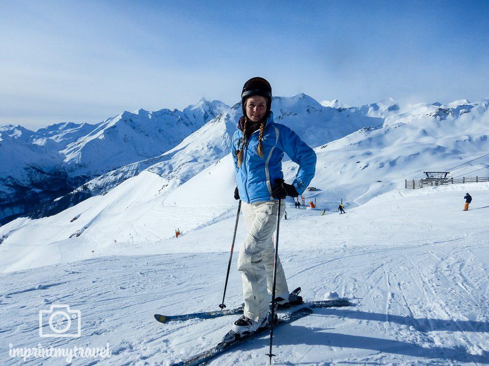 Skifahren in Heiligenblut mit Blick auf den Großglockner