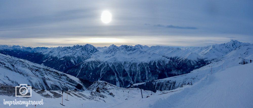 Skifahren in Heiligenblut Hochfleiss Panorama