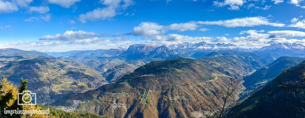 Wandern in Südtirol Titschenwarte Ausblick
