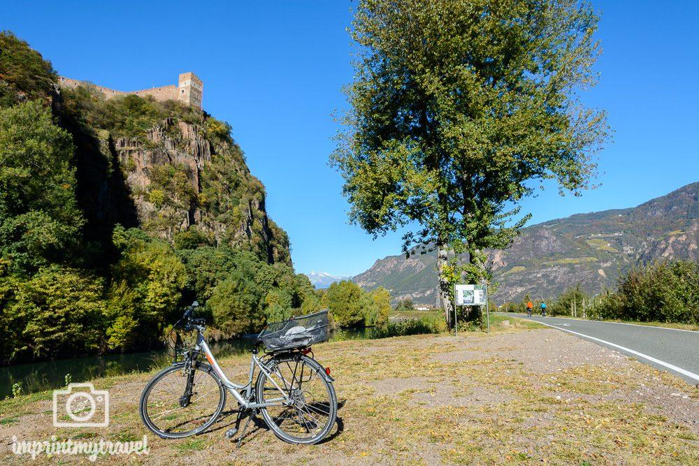 Radfahren in Südtirol mit Aussicht