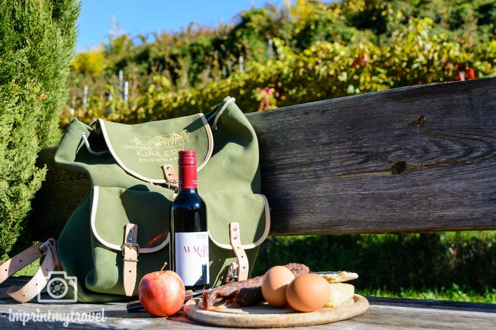 Wandern in Südtirol Picknick
