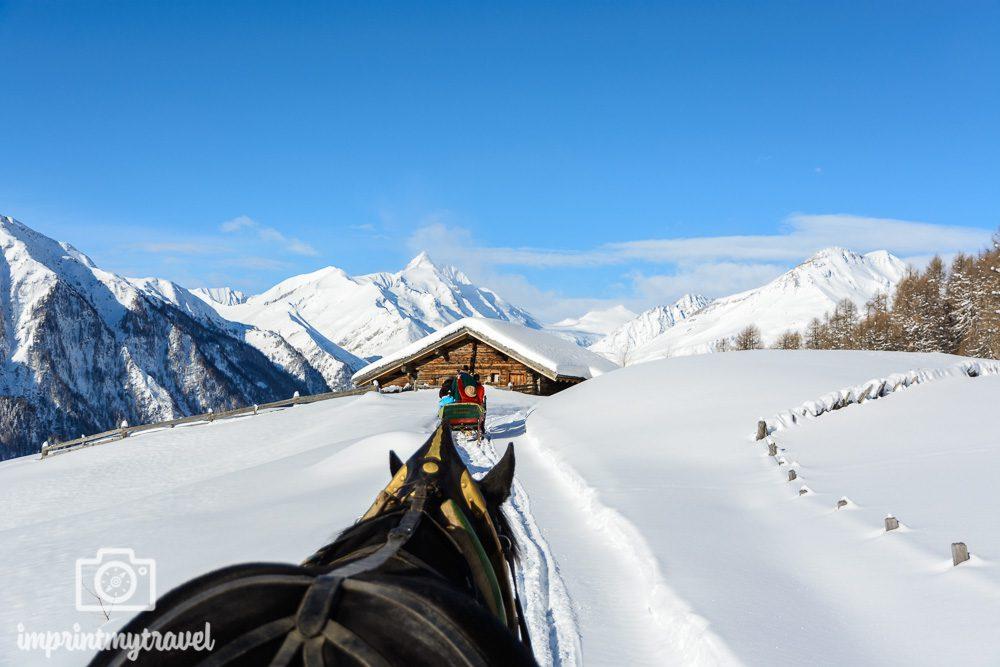 Skifahren in Heiligenblut Schlittenfahrt