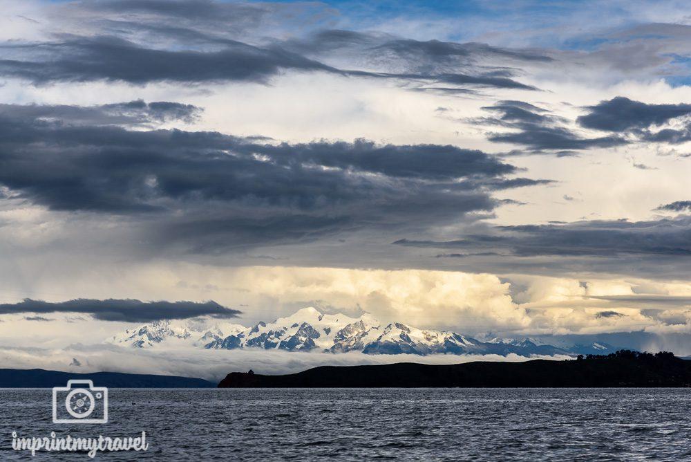 Bolivien Bilder Berg Illimani
