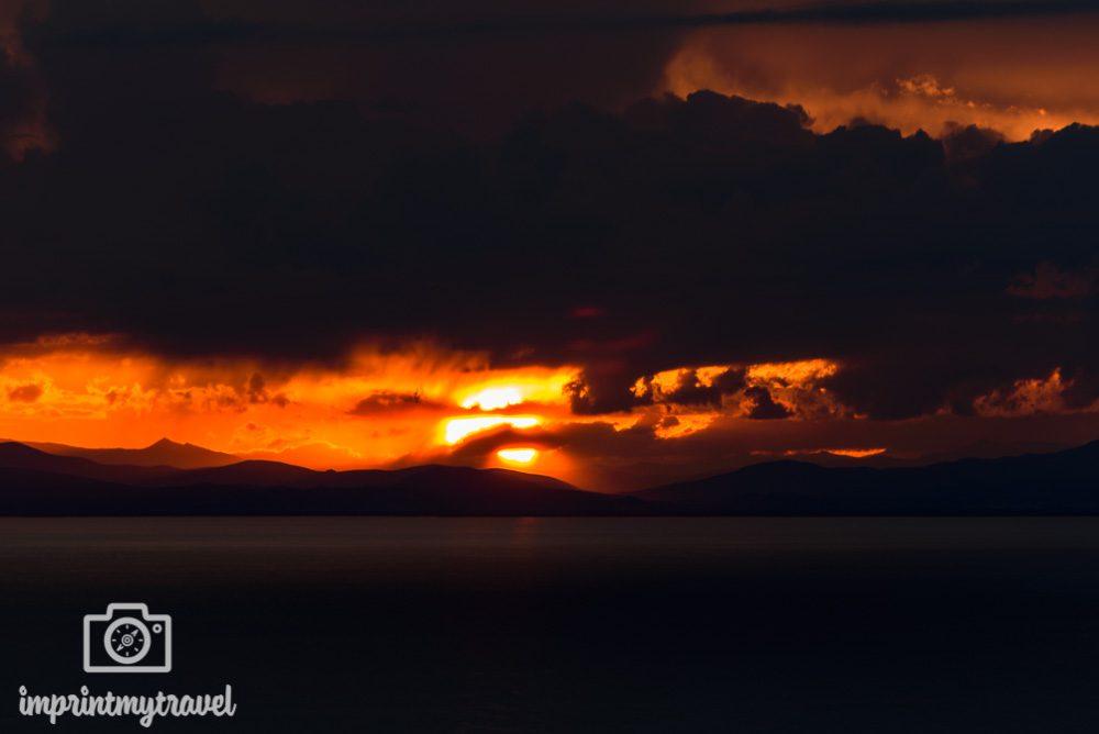 Bolivien Bilder Titicaca-See Sonnenuntergang