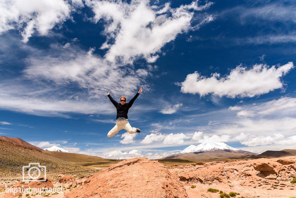 Bolivien Bilder Altiplano Sprung
