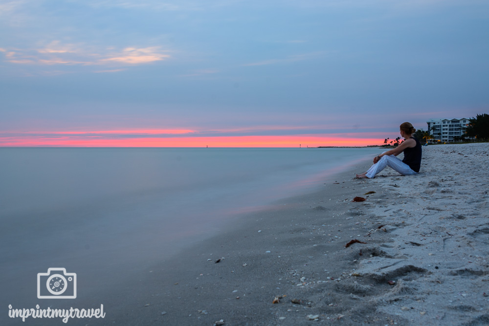 Florida Naples Hotel Edgewater Beach Sonnenuntergang