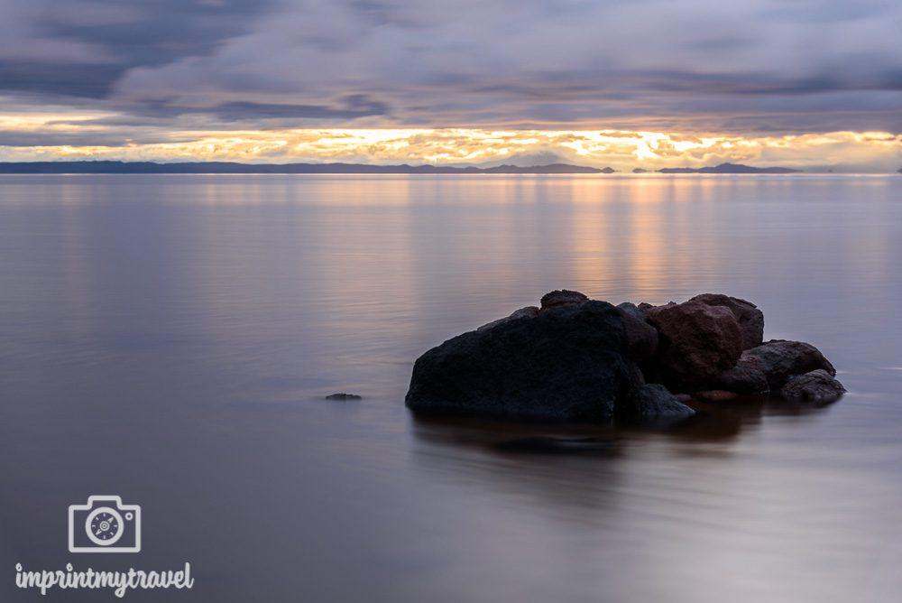 Bolivien Sehenswürdigkeiten Salar de Uyuni Sonnenaufgang